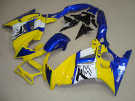 Honda CBR600 F3 1997 1998 yellow and blue fairing kits, 1997 1998 Honda CBR600 F3 yellow and blue plastic.This Honda CBR600 F3 1997 1998 fairing kits was applied in yellow and blue graphics, this 1997 1998 CBR600 fairing set comes with the both color and decals shown as the photo.If you want to do custom fairings for CBR600 F3 1997 1998,our talented airbrusher will custom it for you.