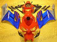Honda CBR1000RR 2004 2005 red/blue/silver fairing kits, this Honda CBR1000RR 2004 2005 plastics was applied in red/blue/silvergraphics, this 2004 2005 CBR1000RR fairing set comes with the both color and decals shown as the photo.If you want to do custom fairings for CBR1000RR 2004 2005,our talented airbrusher will custom it for you.