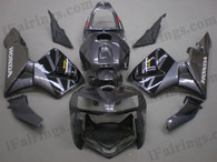 Honda CBR600RR 2005 2006 gray and blackfairing kits, this Honda CBR600RR 2005 2006 plastics was applied in gray and blackgraphics, this 2005 2006 CBR600RR fairing set comes with the both color and decals shown as the photo.If you want to do custom fairings for CBR600RR 2005 2006,our talented airbrusher will custom it for you