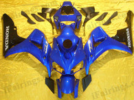 Honda CBR1000RR 2006 2007 blue and black fairing kits, this Honda CBR1000RR 2006 2007 plastics was applied in blue and blackgraphics, this 2006 2007 CBR1000RR fairing set comes with the both color and decals shown as the photo.If you want to do custom fairings for CBR1000RR 2006 2007,our talented airbrusher will custom it for you.