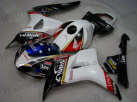 Honda CBR1000RR 2006 2007 CARRERA white/black  fairing kits, this Honda CBR1000RR 2006 2007 plastics was applied in CARRERA white/black graphics, this 2006 2007 CBR1000RR fairing set comes with the both color and decals shown as the photo.If you want to do custom fairings for CBR1000RR 2006 2007,our talented airbrusher will custom it for you.
