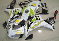Honda CBR1000RR 2006 2007 HANNspree fairing kits, this Honda CBR1000RR 2006 2007 plastics was applied in HANNspreegraphics, this 2006 2007 CBR1000RR fairing set comes with the both color and decals shown as the photo.If you want to do custom fairings for CBR1000RR 2006 2007,our talented airbrusher will custom it for you