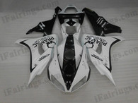 Honda CBR1000RR 2006 2007 PRAMAC white/black fairing kits, this Honda CBR1000RR 2006 2007 plastics was applied in PRAMAC white/blackgraphics, this 2006 2007 CBR1000RR fairing set comes with the both color and decals shown as the photo.If you want to do custom fairings for CBR1000RR 2006 2007,our talented airbrusher will custom it for you.