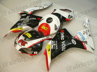 Honda CBR1000RR 2006 2007 Repsol limited edition fairing kits, this Honda CBR1000RR 2006 2007 plastics was applied in Repsol limited editiongraphics, this 2006 2007 CBR1000RR fairing set comes with the both color and decals shown as the photo.If you want to do custom fairings for CBR1000RR 2006 2007,our talented airbrusher will custom it for you.