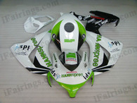 Honda CBR1000RR 2008 2009 2010 2011 HANNspree fairing kits, this Honda CBR1000RR 2008 2009 2010 2011 plastics was applied in HANNspreegraphics, this 2008 2009 2010 2011 CBR1000RR fairing set comes with the both color and decals shown as the photo.If you want to do custom fairings for CBR1000RR 2008 2009 2010 2011,our talented airbrusher will custom it for you.