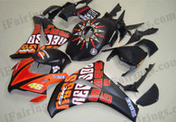 Honda CBR1000RR 2008 2009 2010 2011 Rossi Repsol replica fairing kits, this Honda CBR1000RR 2008 2009 2010 2011 plastics was applied in Rossi Repsol replicagraphics, this 2008 2009 2010 2011 CBR1000RR fairing set comes with the both color and decals shown as the photo.If you want to do custom fairings for CBR1000RR 2008 2009 2010 2011,our talented airbrusher will custom it for you.