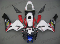 Honda CBR600RR 2005 2006 CARRERA/Leefairing kits, this Honda CBR600RR 2005 2006 plastics was applied in CARRERA/Leegraphics, this 2005 2006 CBR600RR fairing set comes with the both color and decals shown as the photo.If you want to do custom fairings for CBR600RR 2005 2006,our talented airbrusher will custom it for you
