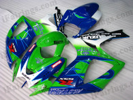 Suzuki GSXR600/750 2006 2007 Corona Extra fairing kits, this Suzuki GSXR600/750 2006 2007 plastics was applied in Corona Extra graphics, this 2006 2007 GSXR600/750 fairing set comes with the both color and decals shown as the photo.If you want to do custom fairings for GSXR600/750 2006 2007,our talented airbrusher will custom it for you.