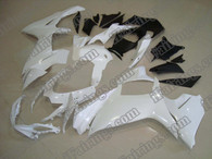 Suzuki GSXR600/750 2011 2012 pearl white fairing kits, this Suzuki GSXR600/750 2011 2012 plastics was applied in pearl white graphics, this 2011 2012 GSXR600/750 fairing set comes with the both color and decals shown as the photo.If you want to do custom fairings for GSXR600/750 2011 2012,our talented airbrusher will custom it for you.