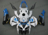 Honda CBR600RR 2005 2006 konica minoltafairing kits, this Honda CBR600RR 2005 2006 plastics was applied in konica minoltagraphics, this 2005 2006 CBR600RR fairing set comes with the both color and decals shown as the photo.If you want to do custom fairings for CBR600RR 2005 2006,our talented airbrusher will custom it for you.