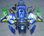 Honda CBR600RR 2005 2006 Movistarfairing kits, this Honda CBR600RR 2005 2006 plastics was applied in Movistargraphics, this 2005 2006 CBR600RR fairing set comes with the both color and decals shown as the photo.If you want to do custom fairings for CBR600RR 2005 2006,our talented airbrusher will custom it for you