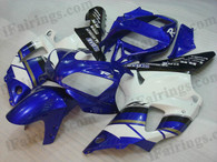 Yamaha YZF-R1 1998 1999 blue/white/black fairing kits, this Yamaha YZF-R1 1998 1999 plastics was applied in blue/white/blackgraphics, this 1998 1999 YZF-R1 fairing set comes with the both color and decals shown as the photo.If you want to do custom fairings for YZF-R1 1998 1999,our talented airbrusher will custom it for you.