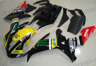 Yamaha YZF-R1 2002 2003 Monster fairing kits, this Yamaha YZF-R1 2002 2003 plastics was applied in Monster graphics, this 2002 2003 YZF-R1 fairing set comes with the both color and decals shown as the photo.If you want to do custom fairings for YZF-R1 2002 2003,our talented airbrusher will custom it for you.