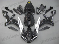 Yamaha YZF-R1 2004 2005 2006 red/black fairing kits, this Yamaha YZF-R1 2004 2005 2006 plastics was applied in red/blackgraphics, this 2004 2005 2006 YZF-R1 fairing set comes with the both color and decals shown as the photo.If you want to do custom fairings for YZF-R1 2004 2005 2006,our talented airbrusher will custom it for you.