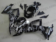 Suzuki GSXR600/750 2006 2007 black Corona Extra fairing kits, this Suzuki GSXR600/750 2006 2007 plastics was applied in black Corona Extra graphics, this 2006 2007 GSXR600/750 fairing set comes with the both color and decals shown as the photo.If you want to do custom fairings for GSXR600/750 2006 2007,our talented airbrusher will custom it for you.
