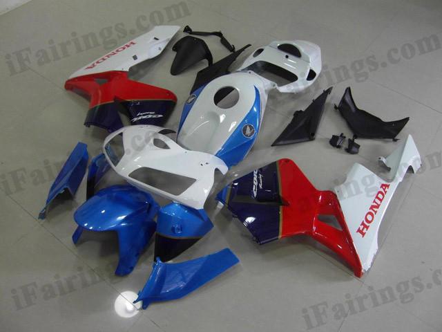 fairing kits for 2005 2006 Honda CBR600RR white/blue/red