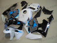 Honda CBR600RR 2005 2006 Honda Limited Edition fairing kits, this Honda CBR600RR 2005 2006 plastics was applied in Honda Limited Editiongraphics, this 2005 2006 CBR600RR fairing set comes with the both color and decals shown as the photo.If you want to do custom fairings for CBR600RR 2005 2006,our talented airbrusher will custom it for you.