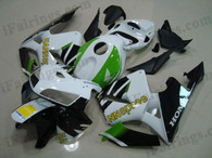 Honda CBR600RR 2005 2006 HANNspree replica fairing kits, this Honda CBR600RR 2005 2006 plastics was applied in HANNspree replicagraphics, this 2005 2006 CBR600RR fairing set comes with the both color and decals shown as the photo.If you want to do custom fairings for CBR600RR 2005 2006,our talented airbrusher will custom it for you.
