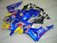 Honda CBR600RR 2007 2008 RedBull replica fairing kits, this Honda CBR600RR 2007 2008 plastics was applied in RedBull replicagraphics, this 2007 2008 CBR600RR fairing set comes with the both color and decals shown as the photo.If you want to do custom fairings for CBR600RR 2007 2008,our talented airbrusher will custom it for you.