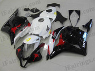 Honda CBR600RR 2009 2010 2011 Honda Limited Edition fairing kits, this Honda CBR600RR 2009 2010 2011 plastics was applied in honda limited editiongraphics, this 2009 2010 2011 CBR600RR fairing set comes with the both color and decals shown as the photo.If you want to do custom fairings for CBR600RR 2009 2010 2011,our talented airbrusher will custom it for you.