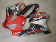 Honda CBR600 F4i 2004 2005 2006 2007 red/silver/black fairing kits, this Honda CBR600 F4i 2004 2005 2006 2007 plastics was applied in red/silver/black graphics, this 2004 2005 2006 2007 CBR600 fairing set comes with the both color and decals shown as the photo.If you want to do custom fairings for CBR600 F4i 2004 2005 2006 2007,our talented airbrusher will custom it for you.