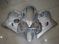 Honda CBR600 F4i 2004 2005 2006 2007 silver fairing kits, this Honda CBR600 F4i 2004 2005 2006 2007 plastics was applied in silver graphics, this 2004 2005 2006 2007 CBR600 fairing set comes with the both color and decals shown as the photo.If you want to do custom fairings for CBR600 F4i 2004 2005 2006 2007,our talented airbrusher will custom it for you.