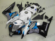 Honda CBR600RR 2007 2008 honda limited edition fairing kits, this Honda CBR600RR 2007 2008 plastics was applied in honda limited editiongraphics, this 2007 2008 CBR600RR fairing set comes with the both color and decals shown as the photo.If you want to do custom fairings for CBR600RR 2007 2008,our talented airbrusher will custom it for you.