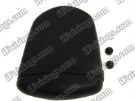 Black rear pillion passenger seat for 2006 2007 Suzuki GSXR 600/750. it is made of synthetic Leather, high-density foam, high quality ABS plastic and comes with all the mounting brackets.
