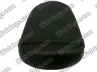 Black rear pillion passenger seat for 2008 2009 2010 Suzuki GSXR 600/750. it is made of synthetic Leather, high-density foam, high quality ABS plastic and comes with all the mounting brackets.