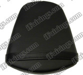 Black rear pillion passenger seat for 2011 2012 Suzuki GSXR 600/750. it is made of synthetic Leather, high-density foam, high quality ABS plastic and comes with all the mounting brackets.