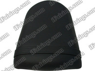 Black rear pillion passenger seat for 2003 2004 Suzuki GSXR 1000. it is made of synthetic Leather, high-density foam, high quality ABS plastic and comes with all the mounting brackets.