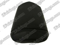 Black rear pillion passenger seat for 2004 2005 2006 Yamaha YZF R1. it is made of synthetic Leather, high-density foam, high quality ABS plastic and comes with all the mounting brackets.