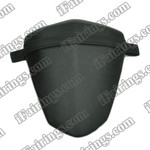 Black rear pillion passenger seat for 2009 2010 2011 2012 Yamaha YZF R1. it is made of synthetic Leather, high-density foam, high quality ABS plastic and comes with all the mounting brackets.