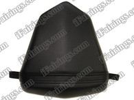 Black rear pillion passenger seat for 2006 2007 Yamaha YZF R6. it is made of synthetic Leather, high-density foam, high quality ABS plastic and comes with all the mounting brackets.