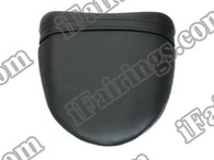 Black rear pillion passenger seat for 2004 2005 Kawasaki Ninja ZX10R. it is made of synthetic Leather, high-density foam, high quality ABS plastic and comes with all the mounting brackets.