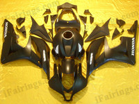 Honda CBR600RR 2007 2008 black and gray fairing kits, this Honda CBR600RR 2007 2008 plastics was applied in black and graygraphics, this 2007 2008 CBR600RR fairing set comes with the both color and decals shown as the photo.If you want to do custom fairings for CBR600RR 2007 2008,our talented airbrusher will custom it for you.