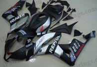 Honda CBR600RR 2007 2008 Repsol matt black fairing kits, this Honda CBR600RR 2007 2008 plastics was applied in Repsol matt blackgraphics, this 2007 2008 CBR600RR fairing set comes with the both color and decals shown as the photo.If you want to do custom fairings for CBR600RR 2007 2008,our talented airbrusher will custom it for you
