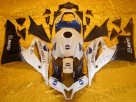 Honda CBR600RR 2007 2008 konica minolta fairing kits, this Honda CBR600RR 2007 2008 plastics was applied in konica minoltagraphics, this 2007 2008 CBR600RR fairing set comes with the both color and decals shown as the photo.If you want to do custom fairings for CBR600RR 2007 2008,our talented airbrusher will custom it for you
