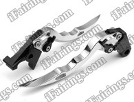 Silver CNC blade brake & clutch levers for Suzuki Hayabusa GSXR1300 1997 to 2007 (F-14/S-14). Our levers are designed as a direct replacement of the stock levers but more benefit over the stock ones.