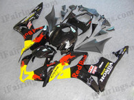 Honda CBR600RR 2007 2008 red bull fairing kits, this Honda CBR600RR 2007 2008 plastics was applied in red bullgraphics, this 2007 2008 CBR600RR fairing set comes with the both color and decals shown as the photo.If you want to do custom fairings for CBR600RR 2007 2008,our talented airbrusher will custom it for you