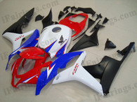 Honda CBR600RR 2007 2008 Repsol replica fairing kits, this Honda CBR600RR 2007 2008 plastics was applied in Repsol replicagraphics, this 2007 2008 CBR600RR fairing set comes with the both color and decals shown as the photo.If you want to do custom fairings for CBR600RR 2007 2008,our talented airbrusher will custom it for you