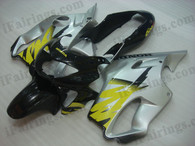 Quality fairing kits for 1999 2000 Honda CBR600 F4 with black and silver scheme, this replacement fairings sets are oem comparable and fast shipping world-wide.