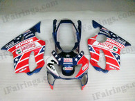 Quality fairing kits for 1999 2000 Honda CBR600 F4 with Castrol scheme, this replacement fairings sets are oem comparable and fast shipping world-wide.