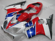 Quality aftermarket fairing kits for 2001 2002 2003 Honda CBR600 F4i in Factory color, this replacement bodyworks are injection molds made, OEM comparable quality and fast shipping.