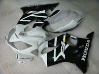 Quality aftermarket fairing kits for 2004 2005 2006 2007 Honda CBR600 F4i with white and black color scheme/graphics. This fairing set is oem factory quality, fast shipping and easy installtion.