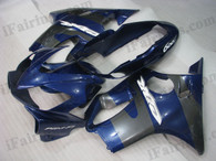 Quality aftermarket fairing kits for 2004 2005 2006 2007 Honda CBR600 F4i with blue and grey color scheme/graphics. This fairing set is oem factory quality, fast shipping and easy installtion.