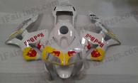 2003 2004 Honda CBR600RR Pearl White RedBull Fairing Kit, Honda CBR600RR RedBull Replacement Fairings.