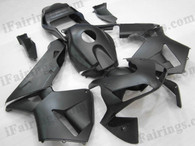2003 2004 Honda CBR600RR matte/flat black fairings, Honda CBR600RR black fairing replacement.