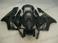 Quality aftermarket fairing kits for 2003 2004 Honda CBR600RR with black color scheme/graphics. These body kits are 2003 2004 Honda CBR600RR replacement bodywork, they are oem quality, fast shipping and easy installation.