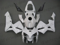 OEM factory quality fairings and body kits for 2005 2006 Honda CBR600RR with white color scheme/graphics, this oem replacement fairing sets are oem quality, fast shipping and easy installation. The 2005 2006 CBR600RR fairings can also be customized.